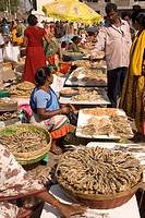 Weekly rural fish market for daily_to_daily requirements Macchi bazaar , Virar , Tal. Vasai , Dist Thane , Maharashtra , India