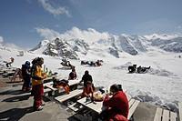 Europe, Switzerland, Engadina, Diavolezza, Bar and Restaurant