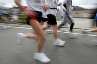 Marathon Athletes, blurred motion
