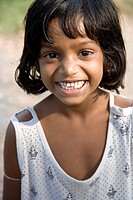 Portrait of South Asian Indian girl , Calcutta now Kolkata , West Bengal , India