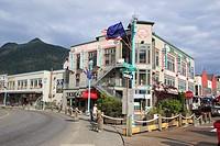 Street , shopping mall , Ketchikan , Alaska , U.S.A. United States of America