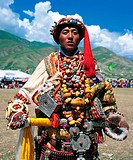 a portrait of Chinese tibetan