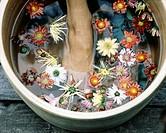 Floral foot bath