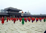 King Sejong enthronement ceremony in Gyeongbokgung Palace, Seoul, Korea