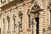 Italy, Apulia, Lecce, Detail of Ex Convento dei Padri Celestini