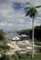 Bermuda, Smith´s Parish, Scenic view of Flatt´s Inlet from the Palmetto Hotel in Flat´s in Smith´s Parish in Flatts in Bermuda.