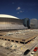 New Orleans, Superdome, stadium, Louisiana, LA, Louisiana Superdome in New Orleans.