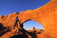 Photographer photographing Arches National Park , Utah