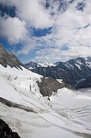 Switzerland, view of alps and glacier