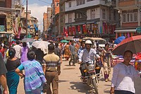 A street scene in Kathmandu Nepal