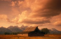 USA, Wyoming, Grand Teton National Park, Mormon Row, antique barn