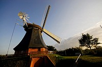 Windmill in Krokau town, Schleswig-Holstein, Germany