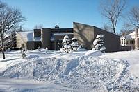 Modern house in winter