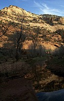 Stream passing through a landscape, Grand Staircase_Escalante National Monument, Utah, USA