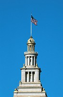 Flag atop Ferry building, San Francisco