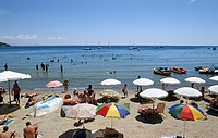Agia Marina beach, Aegina island, Greece