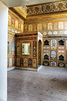 The Fruit Room with painted walls, the Harem and the Sultan's Private Apartments, topkapi palace museum, Istanbul, Turkey