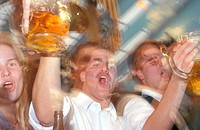 People at Oktoberfest, Munich, Bavaria, Germany
