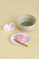 Green tea and Japanese sweets