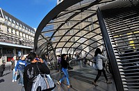St. Lazare subway station. Paris, France
