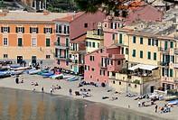 Italy, Liguria, Sestri Levante, Spiaggia del Silenzio, Beach