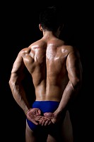 Body builder,back view