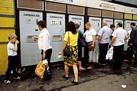 moscow, daily life, soft drink dispenser