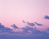 Sky at dusk in Tahiti