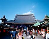 Exterior of Sensoji, Tokyo, Japan