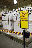 Carlsbad, New Mexico - Containers filled with transuranic nuclear waste from America's nuclear weapons program await burial at the Waste Isolation Pil...