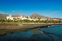 Canary Islands, Tenerife, Playa de Las Americas, Beach