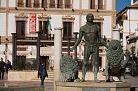 Spain, Andalusia, Ronda, Plaza del Socorro, fountain