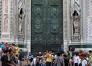 Italy, Tuscany, Florence Duomo entrance