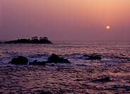 Sunrise of Hiyoriyama Beach, Toyooka, Hyogo, Japan