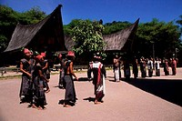 ASIA, INDONESIA, SUMATRA, LAKE TOBA, SAMOSIR ISLAND, SIMANINDO, BATAK TRADITIONAL DANCES