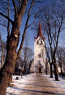 Estonia, the church of Keila in winter