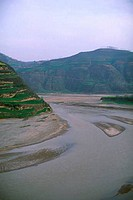 CHINA, SHAANXI PROVINCE, NEAR BAOJI, WEI RIVER VALLEY