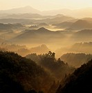 Morning Glow And Mountains, Nara, Japan