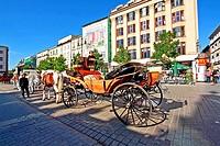 Main Market Square, Old Town, Krakow, Poland, Europe.