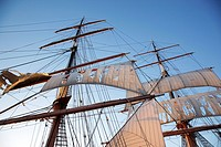 Star-of-India sailing ship at the Maritime Museum in San Diego, California, USA