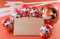 Daruma doll and Prayer Blocks