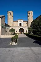 Italy, Marche, Corridonia, San Claudio al Chienti Church