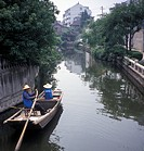 China, a boat passing through a canal