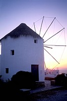 Greece, Mylonos Windmill