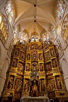 Altarpiece in the Main Chapel of cathedral, Burgos, Castilla-Leon, Spain