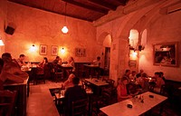 Greece. Western Crete. Chania Old Town. Inside Tamam Restaurant.
