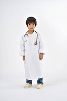 Boy playing as doctor