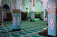 Africa, Egypt, Aswan, interior of the mosque