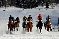 Switzerland, Saint Moritz, horse race