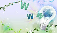 World wide web vector with globe and light bulb (thumbnail)